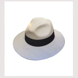 AVENEL WHITE PAPER BRAID SAFARI HAT